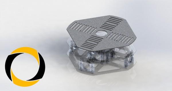 Akkuplatte aus CFK (Carbon) für Quadrocopter